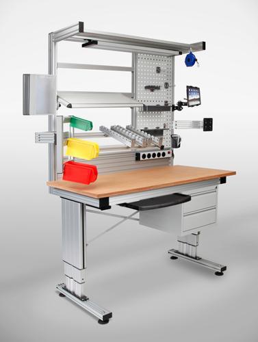 Höhenverstellbare Arbeitsplatzsysteme / Arbeitstische / Werkbänke