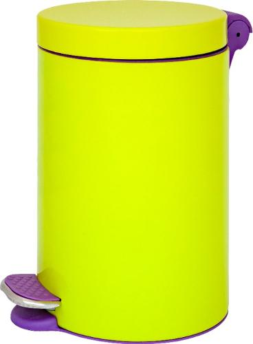 BIN WITH PEDAL AND COLORFUL PLASTIC