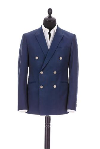 Double breasted full canvas suit, tailor made in Romania