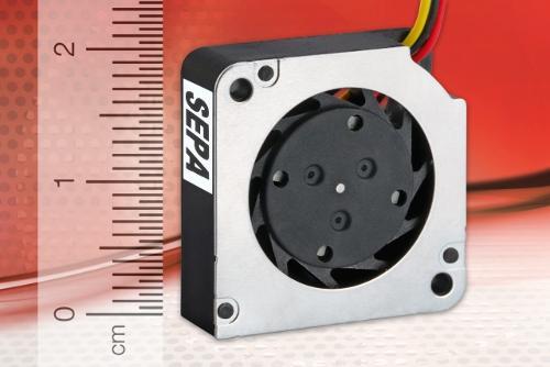 Microlüfter in Radialbauweise für Sensorikaufgaben