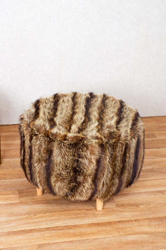 Real Fur Stool