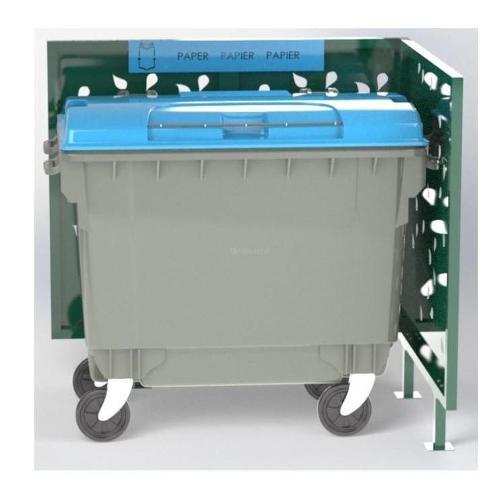 Cache Poubelle Double Feuille En L Recyclage Papier