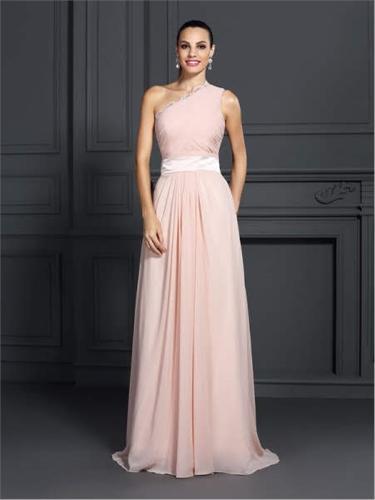 One Shoulder Long Evening Dress