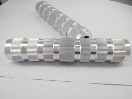 Knurled aluminum tube