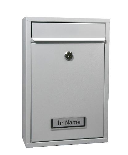 Briefkasten Stahl Weiß
