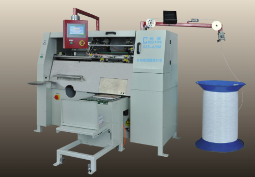 Spiral wire forming and binding machine