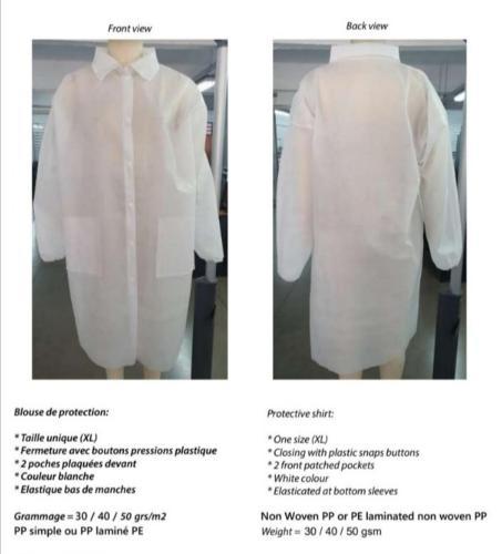 Vêtement équipement médicaux
