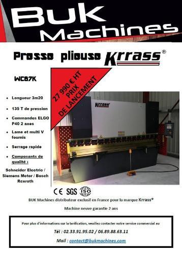 PRESSE PLIEUSE série WC67K