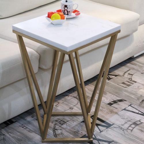 Diamond Leg-volakas Marble Coffee Table