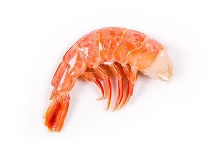 Queues de crevettes sauvages d'Argentine en carapace