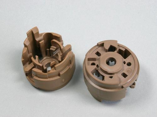 Plastic parts for electric fuel pumps
