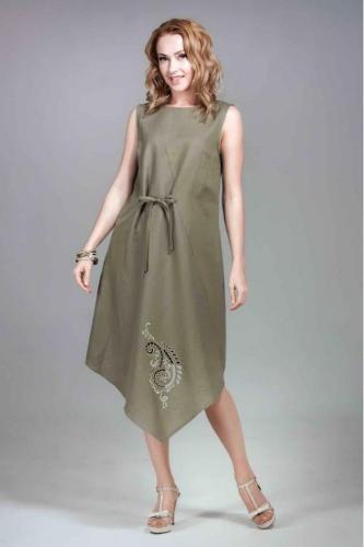 Ladies elegant  evening linen   dress