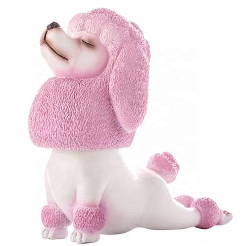 Customized resin small yoga meditation dog figurine