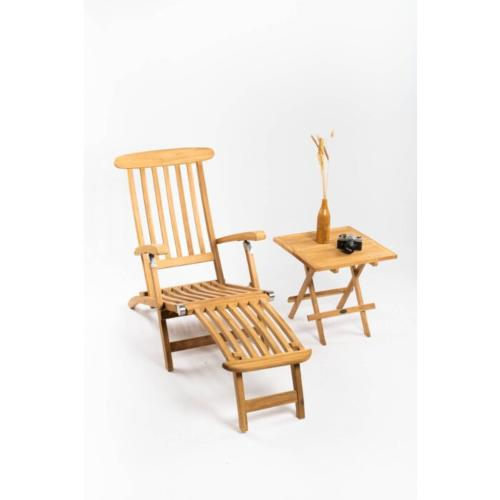 deckchair with slate table teak wood