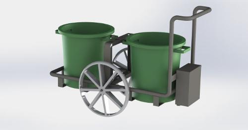 Chariot de propreté double