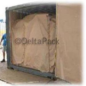 Papel asfalto para exportar en contenedor marítimo