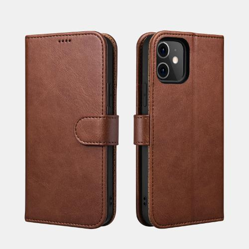 Icarer Iphone 12/12 Pro(6.1) Case Classic Pu Leather Wallet Brown