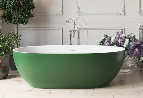 Corelia Бело-зеленая Отдельностоящая Ванна