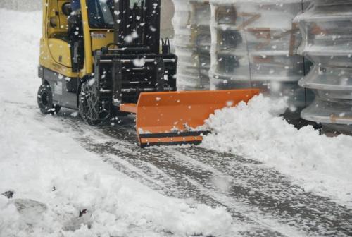 Lames chasse-neige type SCH, appareil pour chariot élévateur