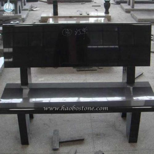 Black Granite Grave Bench Monuments