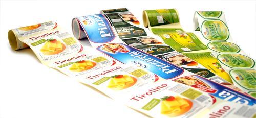 Paper adhesive labels