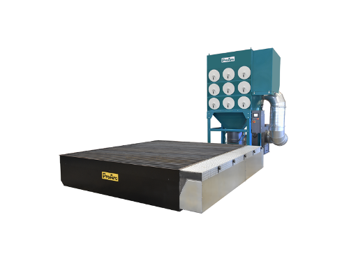 Modular fume extraction table for plasma cutting