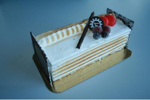 Bûche vanille sorbet fruits des bois
