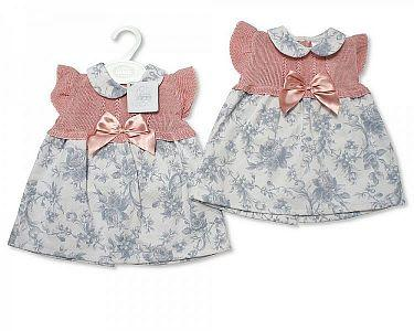 Baby Girls Knitted Spanish Style Dress with Bow