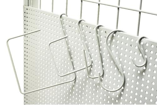 S-sharped different size metal chrome display hanging hooks