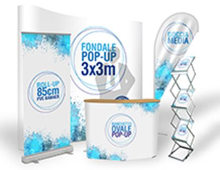 Advertising displays for companies, stores, businesses