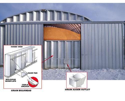 Зернохранилища арочные стальные - напольные зернохранилища
