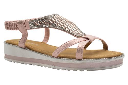 Ladies Shiny Sequin Sandals - H909-3