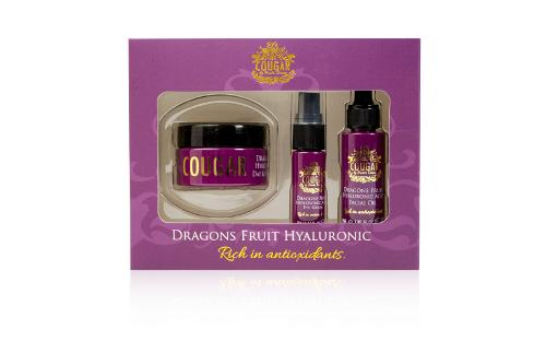 Cougar Beauty Dragon Fruit Hyaluronic Acid Trio:Day &...