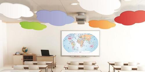 Panneaux acoustiques suspendus au plafond