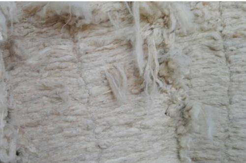 Scoured wool for carpet grade