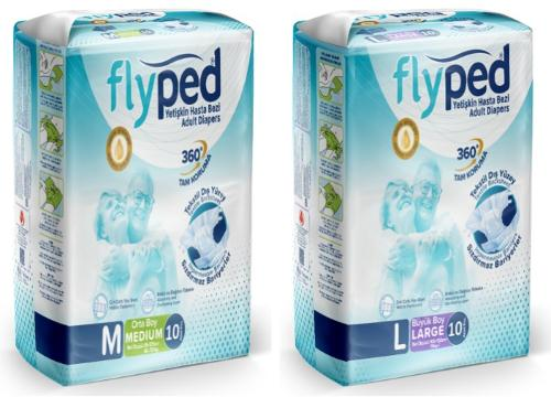 FLYPED ADULT DIAPER 10pcs PACKAGE