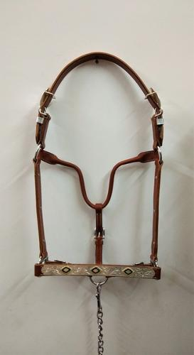 Western horse halter with Leads in Chesnut colour