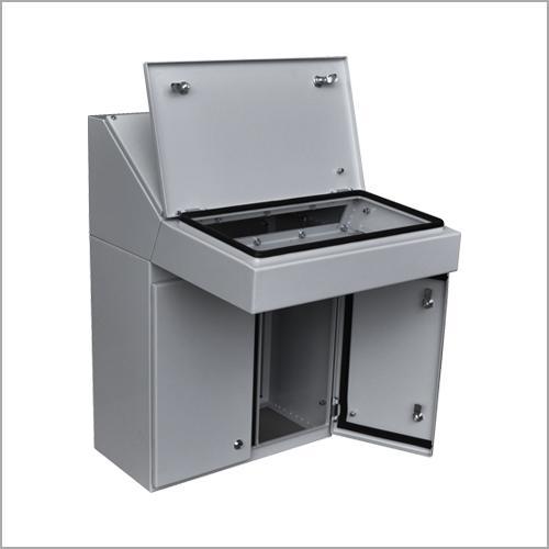 Control panel enclosures for stationary machines and enclosu
