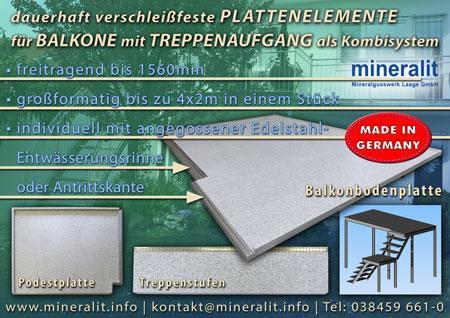 Podestplatten für Eingangsbereiche