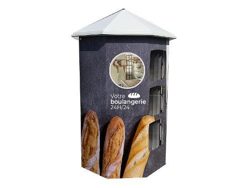 Kiosque de boulangerie intérieur et extérieur