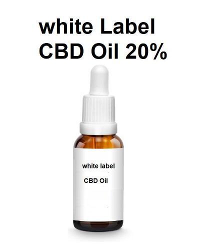 white Label Aceite de CBD 20%