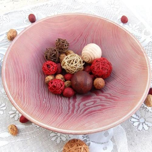 Vintage Wooden Bowl - Read Dream