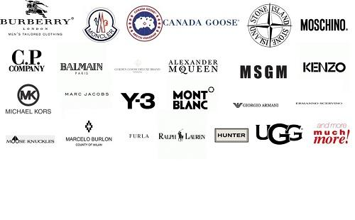 Some of more than 90 High End Luxury Brands