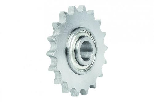 Idler sprockets with ball bearing