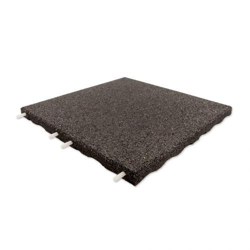 Terrassenplatte schwarz 50x50x3cm Stift/Loch