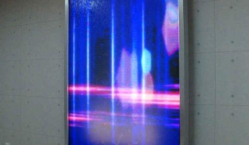 LCD, TV, mur d'eau vidéo