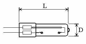 OZONE QUARTZ LAMPS - Lamp Type: O3S
