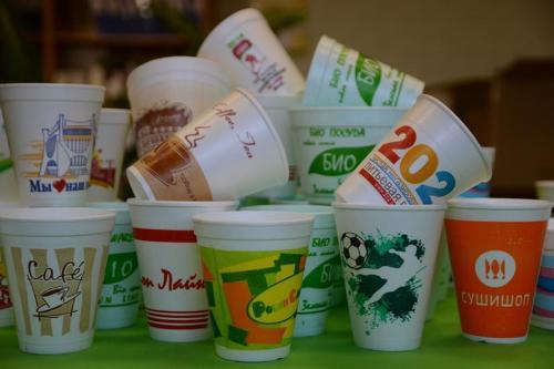 Нанесение логотипа на одноразовые стаканы и контейнеры