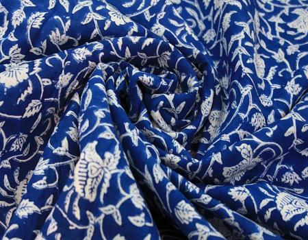 Indian Hand Block Printed 100% Cotton Fabric