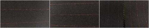 la laine / polyester / spandex 60/36/4 Serge2/2
